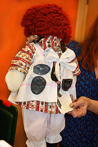 Raggedy Ann with Pins